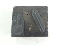 Vintage Letterpress Printing Block - Pictorial Cocktail Shaker & Implement 50mm