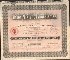 Union Minière Indochinoise (INDOCHINE) (N)