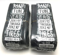 "2 x RANT BMX BICYCLE TUBES 20"" x 1.95 2.20 2.25 2.3 2.35 2.4 FIT ANY 20"" TIRE"