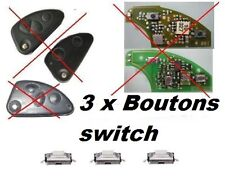 3 BOUTONS SWITCH COQUE CLE PILP ALPHA ROMEO 147, 166, 156