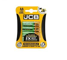 4 Pack JCB Pre-Charged AA Rechargeable Batteries for Common Household Appliances