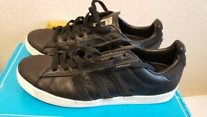 Adidas skateboarding Men's Black Leather Trainers Size UK 8