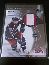 Nikolai Zherdev 2005-06 SP Game Used Authentic Fabrics Patches /75 Blue Jackets