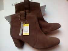 NEW BROWN SUEDE LEATHER COWBOY BOOTS PULL ON ANKLE BOOTS SIZE 6
