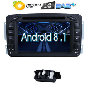4-Core Android 7.1 Car Stereo DVD Radio GPS Fit Mercedes Benz C Class W203 /W209