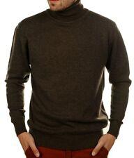 Balldiri 100% Cashmere señores roll cuello Jersey 4-fädig marrón L