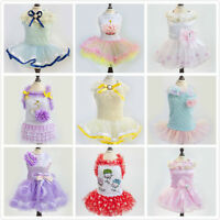 2017 Fashion Summer Various Pet Puppy Small Dog Cat Clothes Skirt Party Dress