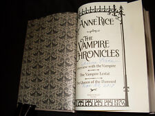 Anne Rice signed & dated The Vampire Chronicles 7th print leather bound HC book