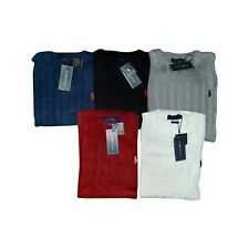 Ralph Lauren Cable Knit Cotton Crew Neck Long Sleeve Jumper 6 colours
