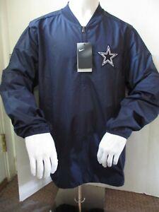 Nike Dallas Cowboys 1/4 Zip Pullover Jacket Navy Blue Men's Size L