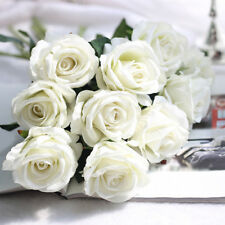 Artificial Fake Roses Silk Flower Wedding Home Bridal Bouquet Home Decor Newly