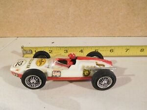 Strombecker 1/32 White & Red Slot Car Roadster #52