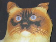 "Darling Somali Kitty Fox Cat Accent Pillow Blue Eyes Plush Stuffed Animal 13"""