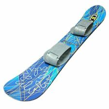 Snow Daze 110 cm Blue Pattern Kids Beginner Snowboard