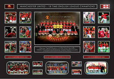 New Manchester United Limited Edition Oversized Memorabilia Framed