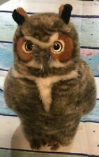 """Toys R Us FAO Schwarz Plush Sitting Great Horned Owl ~*~ 15"""" EXCELLENT"""