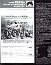 THE DESERTER pressbook, Bekim Fehmiu, Chuck Conners, Richard Crenna -PLUS POSTER