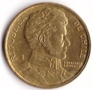 10 Pesos 1998 Chile Coin KM#228.2 - Bernardo O'Higgins