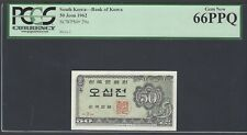 South Korea 50 Jeon 1962 P29a Uncirculated Grade 66