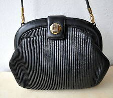 Valentino Orlandi Black Leather Evening Bag Purse Italy Authentic Gorgeous Rare