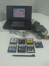 NINTENDO DS LITE BLACK CONSOLE - PLUS 9 KIDS BOYS GAMES STYLUS + CHARGER