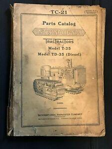 Vintage International Model T-35 / TD-35 ( Diesel ) PARTS CATALOG # TC-21 - USED