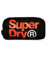 Superdry Mens Toiletry Bag 'Freshman Wash Bag' (Black)