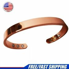 Copper Magnetic Bracelet Men Women Arthritis Pain Magnets Cuff Healing Therapy