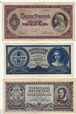 21 Different Banknote of HUNGARY ~ Circulated (Cond - VF to XF) stock clearance