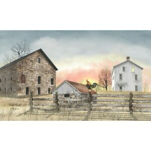 New Billy Jacobs Farm EARLY RISER ROOSTER BARN PICTURE Canvas Wall Hanging