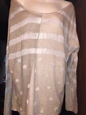 Pas De Calais Long Sleeve Subdued Flag Semi Sheer Soft Top  Shirt M