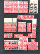1926-1930 US 2 Cent Red Lot of MNH, Blocks, Pairs, Strips, Singles #2