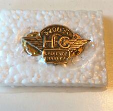 2003 HOG HARLEY DAVIDSON OWNERS GROUP LADIES OF HARLEY LAPEL VEST PIN PINBACK
