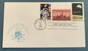 USA 🇺🇸 1994 Apollo 8 - used cover with Michel No. 981 +2 add. stamps
