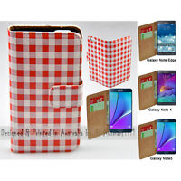 For Samsung Galaxy Note Series - Bavarian Print Wallet Mobile Phone Case Cover