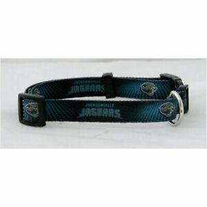 Jacksonville Jaguars (X-Small adjustable 8.5 -11.75 inch) Nylon Pet Dog Collar