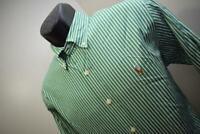 42262 Mens Polo Ralph Lauren Custom Long Sleeve Striped Dress Shirt Size Medium