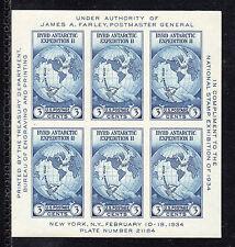 US # 735 (1935) 3c - MNH(OGnh) -VF Centering - Byrd Antarctic Souvenir Sheet