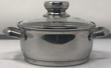 Berndes 1 1/2 1.5 Qt Stock Pot w Lid Stainless Steel 1.3L 6 Inch Made In Germany