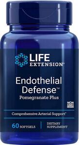 ENDOTHELIAL  DEFENSE POMERGRANITE PLUS ARTERY SUPPORT 60 Capsule  LIFE EXTENSION