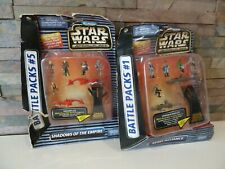 Star Wars Micro Machines Battle Pack 1 & 5 SHADOWS OF THE EMPIRE REBEL ALLIANCE