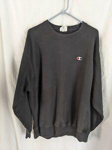 Champion Reverse Weave Sweatshirt Sz XL Crewneck Faded black Vtg Look