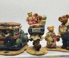 Vintage Boyds Bearly Built Village Accessory Ted E. Bear Shop 2000 #19501-1 B9