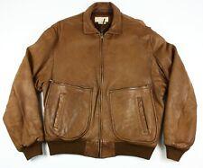 Banana Republic Safari Travel Clothing Brown Leather Flight Bomber Jacket Sz 38
