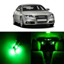 18 x Error Free Green LED Interior Light For 2005 - 2011 Audi A6 S6 C6 + TOOL