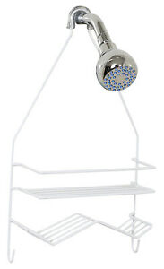 7518W Over-The-Shower Caddy, White, Small - Quantity 1