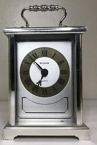 Vintage Gold Bulova Desk Mantle Quarts Clock West Germany