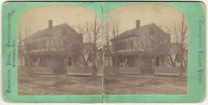 Northampton Massachusetts Large Private House & Yard Knowlton Stereoview