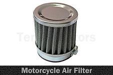 1 x Moto Motocicletta Chopper Aspirazione Aria Filtro Performance Cromo A1 60mm