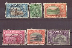 Trinidad & Tobago, King George VI, 1935 - 1938, Used, OLD